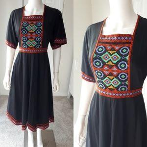 True Vintage 1970's Boho Dress